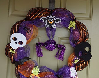 Purple Spider Wreath