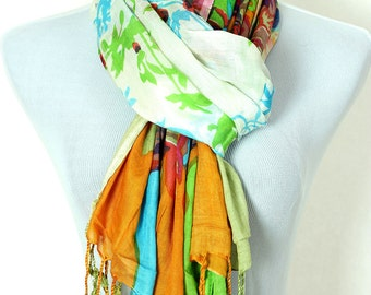 Tropical Floral Scarf (Autumn)