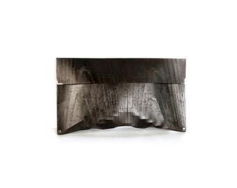 "eco wood clutch -  smoked chestnut - ""chestnut tree"" - in black"
