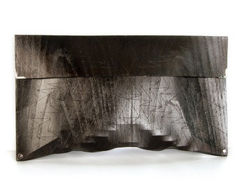 "eco wood clutch -  smoked chestnut - ""chestnut tree"" - in black"