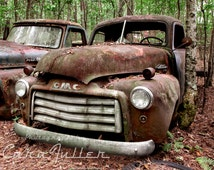 1950s Brown GMC Truck in the Woods Photograph