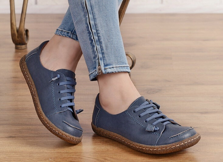 Flat Shoes With Leather Soles