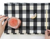 Laminated Cotton Fabric Black Plaid By The Yard