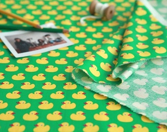 Cotton Fabric Small Duck Green By The Yard