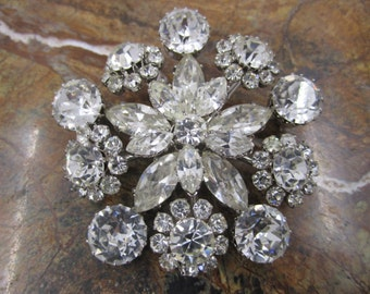 Gorgeous clear crystal made in Austria Flower brooch