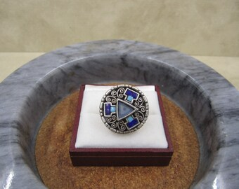 Lovely Aztec style silver ring