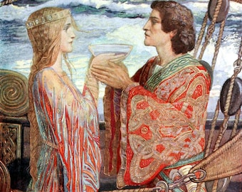 Tristan and Isolde - Counted cross stitch pattern in PDF format