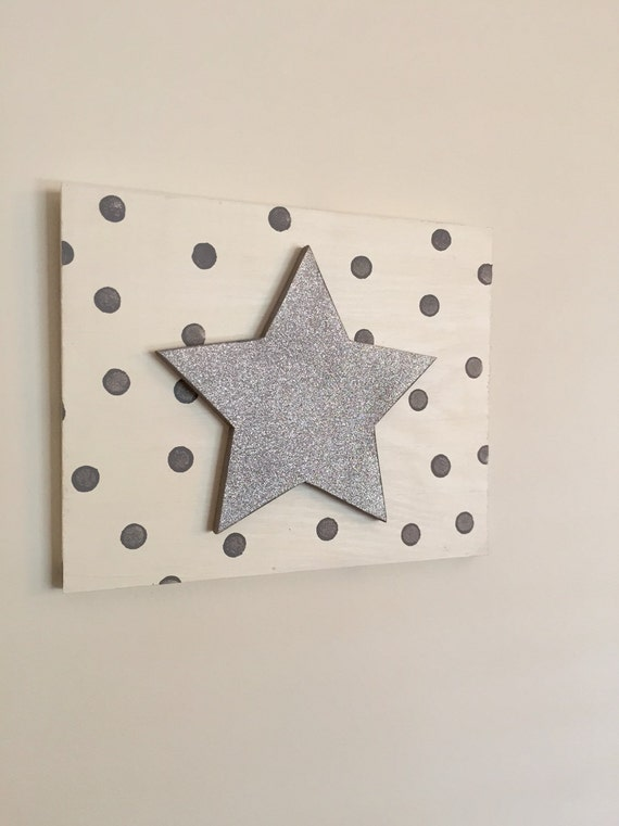 Wooden Dot Star Sign