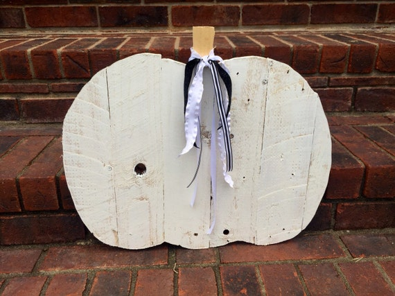 Wooden Pumpkin/Reclaimed Wood Pumpkin/White Pumpkin
