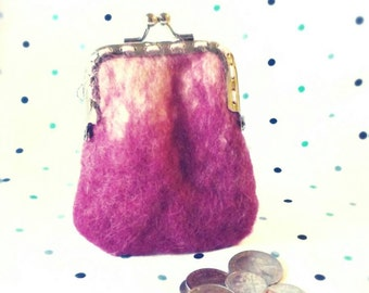 Coin purse, felted bag