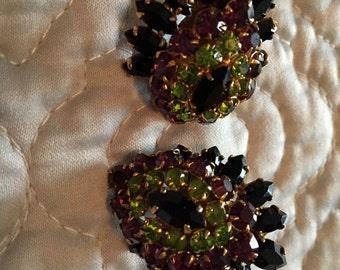 Gorgeous Vintage Rhinestone earrings (pierced ears!)