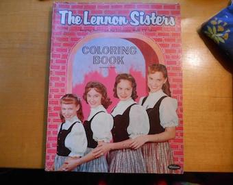 Vintage Lennon Sisters cololring book 1959 Lawrence Welk show