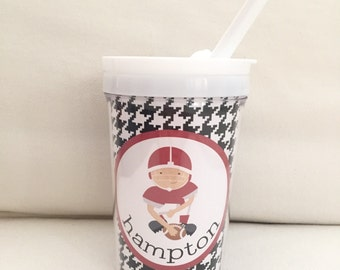 Alabama Football Player Houndstooth Personalized Sippy Cup, Snack Cup, or Set
