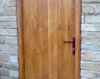 Solid Oak Planked Door