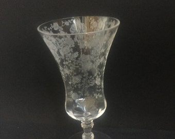 Vintage Cambridge Rose Point Ice Tea Glass or Goblet 3121