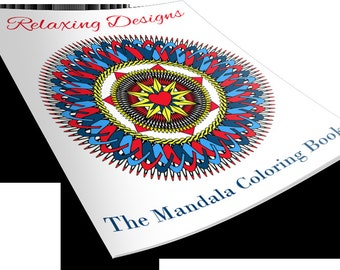 Adult Mandala Coloring Book - Instant Download