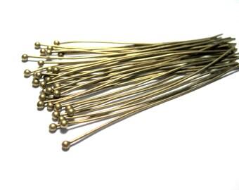 Antique Bronze Ball Head Pins 60mm 22Ga Ball Pins (No.054)