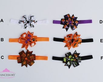 Halloween Baby Headband, Halloween Hair Bows, Infant Halloween Headband, Baby Halloween Costume, Baby Girl Halloween, Newborn, Outfit