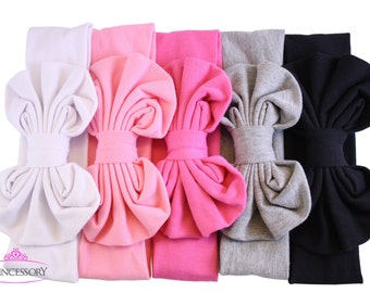 messy bow headband - Baby Girl headband - baby headband -  baby turban headband - knot head wrap - knotted headbands CH06