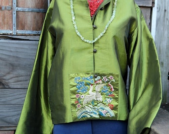 Vintage Silk Embroidered Jacket