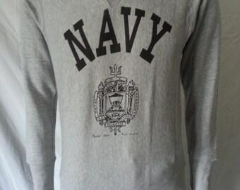 US Navy Naval Academy repro sweatshirt grey color size Medium