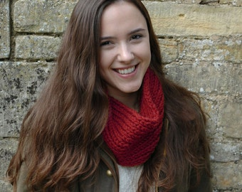 Chunky scarf - learn to knit kit