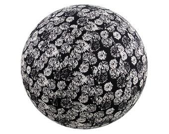 65cm Exercise Ball Cover, Yoga Ball Cover, Fitness Ball Cover, Fair Trade - Black Fireworks.