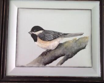 Bird painting in acrylics