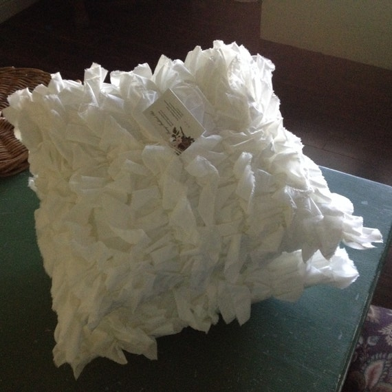 TWO Ruffled Pillow Covers 16 throw by TraceysFeatheredNest