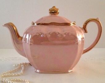 Pink Cube Sadler Teapot