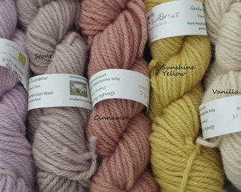 50g skein Chunky organic wool, gently plant-dyed