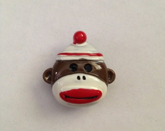Red Sock Monkey Needle Knack