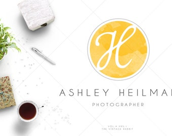 Premade Logo and Photography Logo - Watermark, Watercolor, (Vol4.Vrs1)