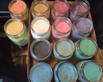Colored sand, 16 or 8 oz, craft sand