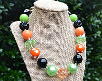 Halloween Bubblegum Necklace, Chunky Necklace, Kid's Necklace, Children's Necklace, Girl's Necklace, Chunky Bead Necklace, BN04