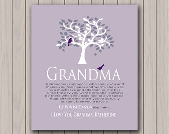 Grandma Gift - Gift from Grandchildren - Can Be Personalized With I or We Love you Grandma With Grandchildrens Names Any Color Available