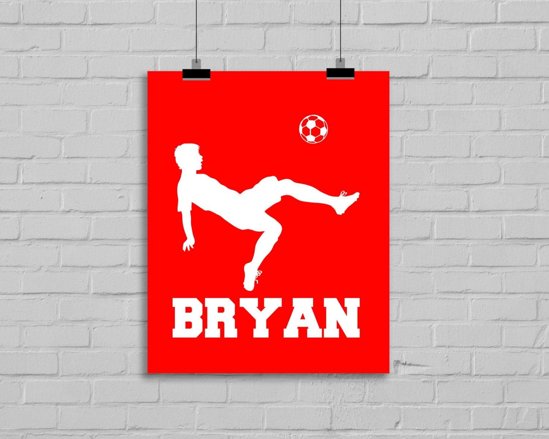 soccer wall art soccer decor boys soccer by. Black Bedroom Furniture Sets. Home Design Ideas