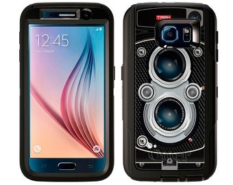 Samsung Galaxy S6 Otterbox Defender Black Twin Reflex Camera (B-406)