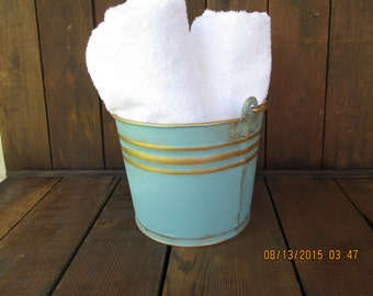 Decorative Painted Gold Trimmed Bucket