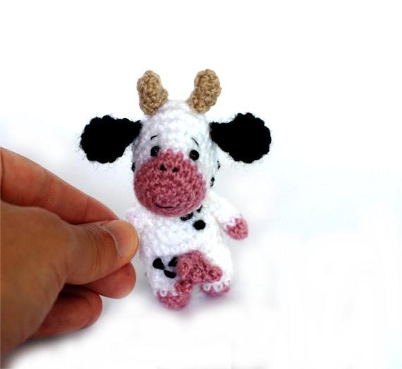 amigurumi cow tiny cow doll miniature cow by ...