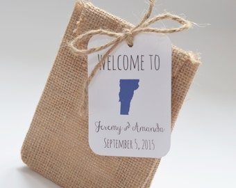 Welcome Bag State Tags