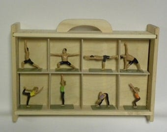 "3D Yogis and Yoginis Box of Poses ""The Instructional Guide to Yoga""  Special Wooden Box Edition"