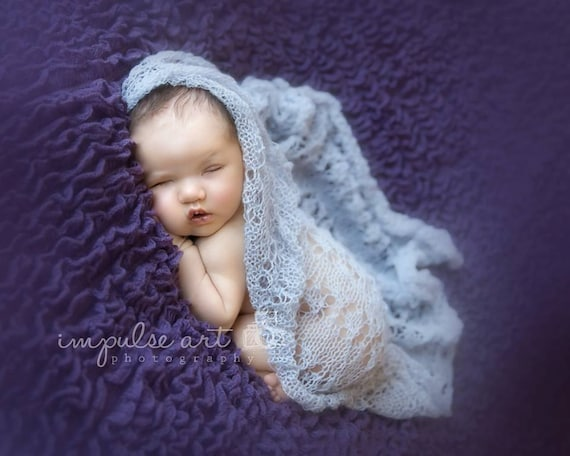 Pattern - Lace Knit Newborn Wrap Pattern