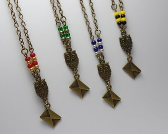 Harry Potter Inspired Owl Envelope Necklace