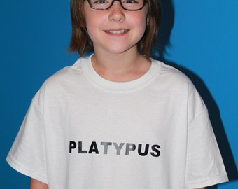 Platypus Shirt - in White or Ice Gray