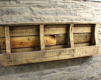 Rustic / Reclaimed Pallet Shelving Unit - Free Shipping