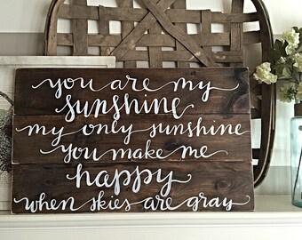 You Are My Sunshine | Nursery Decor | Home Decor
