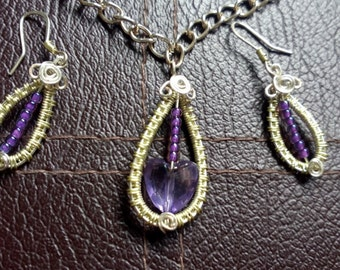 Gorgeous Handmade Pendant and earring set.