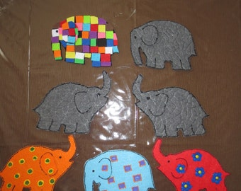 Elmer the Patchwork Elephant felt story set