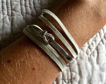 Cynthia Leather Wrap Bracelet